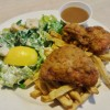 Fried Chicken Special w/ Fries and Caesar Salad